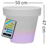 CLE Lichtobjekt LED Blumentopf 50cm RGB mit Fernb.